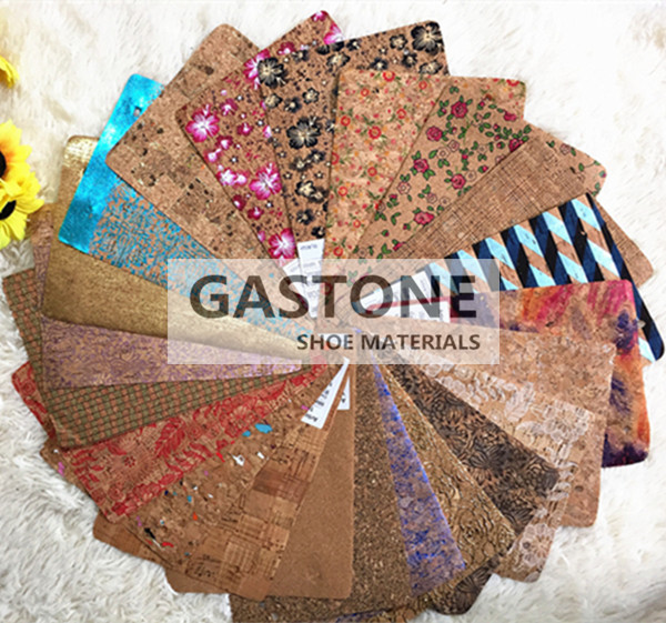 cork leather, cork fabric for shoe, bag and furniture title=