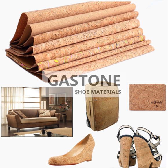 cork leather, cork fabric for shoe, bag and furniture
